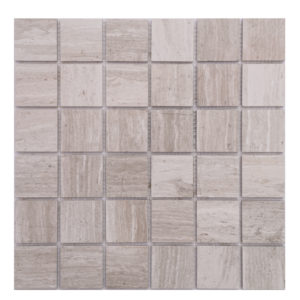 Mosaic Grey Marble 2x2 Stacked Woodlight